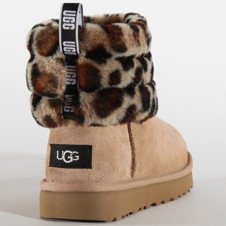 UGG - Bottines Femme Fluff Mini Quilted Leopard 1105358 Amphora