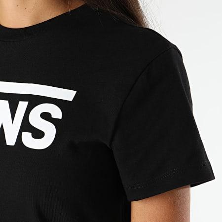 Vans - Tee Shirt Femme Flying V Noir Blanc