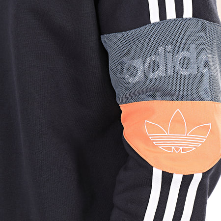 adidas - Sweat Capuche A Bandes Trefoil ED7174 Bleu Marine