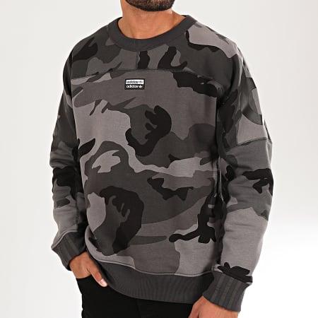 adidas - Sweat Crewneck Camouflage RYV ED7168 Gris Anthracite nOIR
