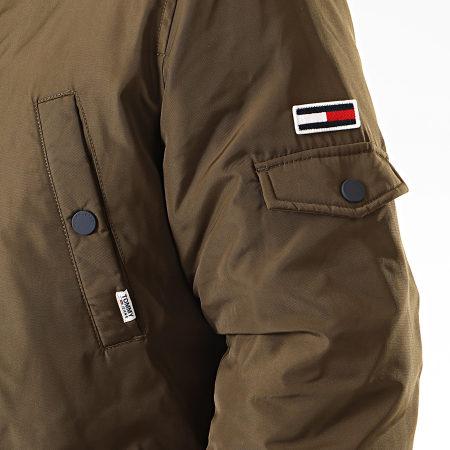 Tommy Hilfiger Jeans - Parka Fourrure Tech 6907 Vert Kaki Beige