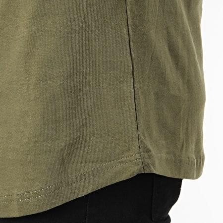 Ellesse - Tee Shirt Oversize A Bandes Iseo Vert Kaki