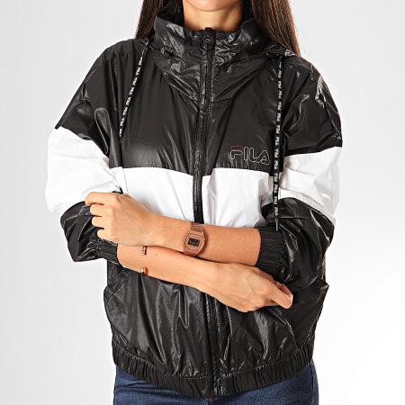 Fila - Coupe-Vent Femme A Capuche Abra 682800 Noir Blanc