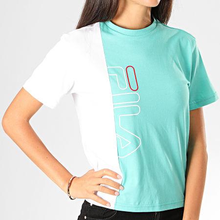 Fila - Tee Shirt Femme Kendra 682845 Vert Clair Blanc