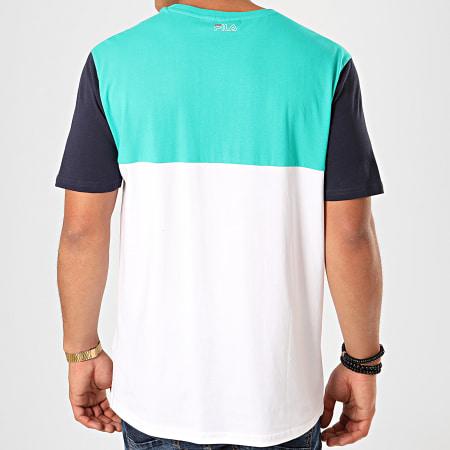 Fila - Tee Shirt Manning Block 682859 Blanc Vert