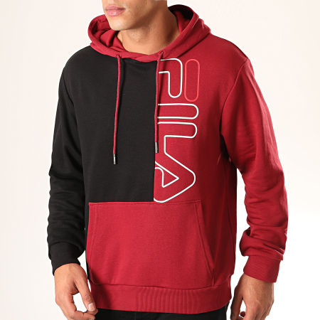 Fila - Sweat Capuche Mert 682863 Bordeaux Noir
