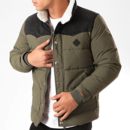 Jack And Jones - Doudoune Luck Puffer Vert Kaki Noir