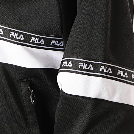 Fila - Sweat Col Zippé Femme Chinami 687257 Noir Blanc