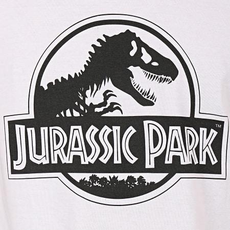 Jurassic Park - Tee Shirt Logo Black And White Blanc