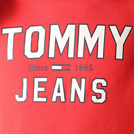 Tommy Hilfiger Jeans - Sweat Capuche Essential 1985 Logo 7025 Rouge