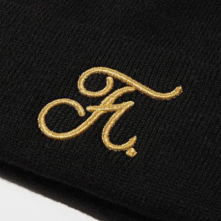 Final Club - Bonnet Gold Couture Avec Broderie Doré 004 Noir