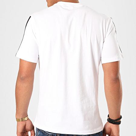 Sergio Tacchini - Tee Shirt A Bandes Ducan 38237 Blanc Noir