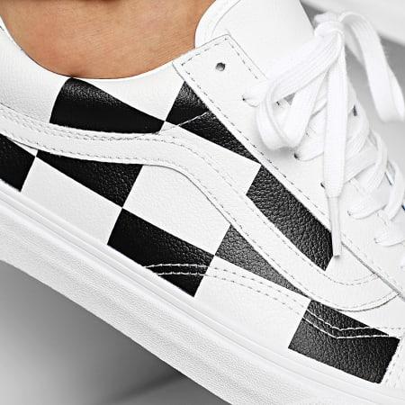 Vans - Baskets Old Skool A4BV5TPL Leather Check White Blanc