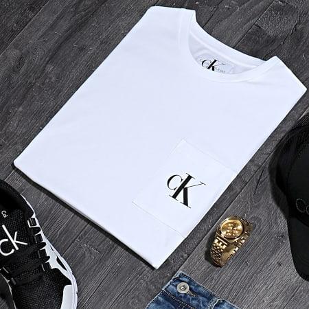 Calvin Klein Jeans - Tee Shirt Poche Slim Monogram 5578 Blanc