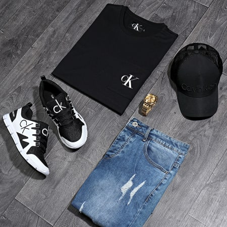Calvin Klein Jeans - Tee Shirt Poche Slim Monogram 5578 Noir