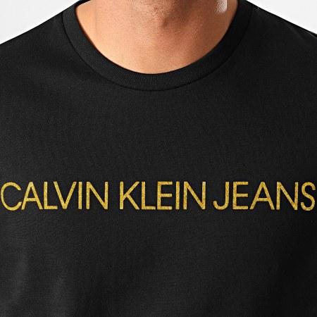 Calvin Klein Jeans - Tee Shirt Slim Institutional Logo 5577 Noir Doré