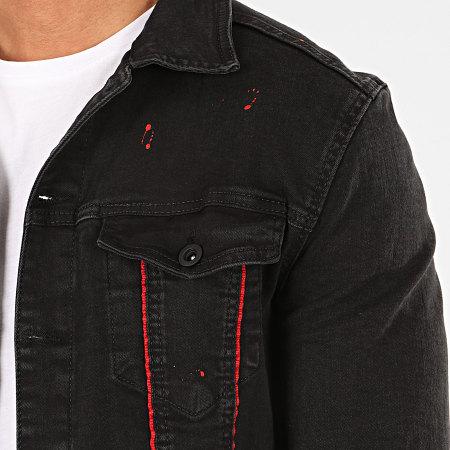 Classic Series - Veste Jean 2802 Noir Rouge
