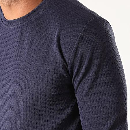 Frilivin - Tee Shirt Oversize Manches Longues 5357 Bleu Marine