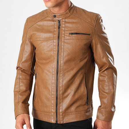 Only And Sons - Veste Biker Al Marron