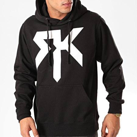 RK Sweat Capuche Logo Noir