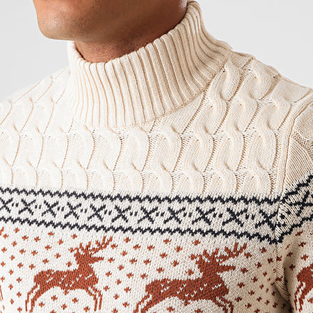 Selected - Pull Reindeer Structure Beige