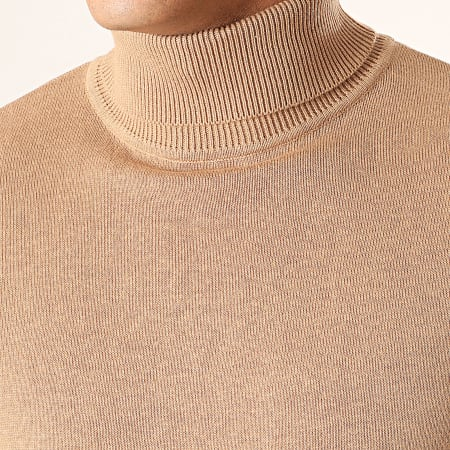 Brave Soul - Pull Col Roulé Hume Beige