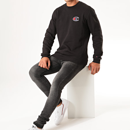 Champion - Sweat Crewneck Suede C Logo Terry 213513 Noir