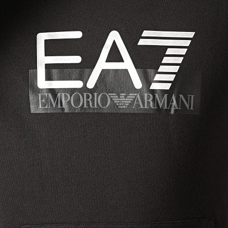 EA7 - Sweat Capuche 6GPM17-PJ07Z Noir Argenté