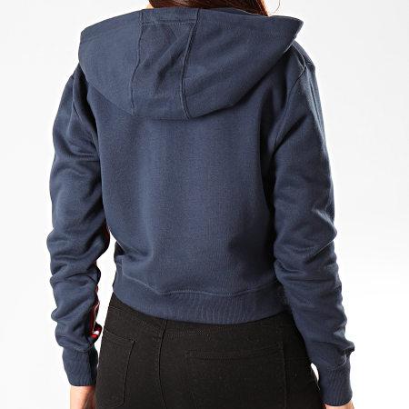 Ellesse - Sweat Crop Zippé Capuche Femme Aldo SGD07999 Bleu Marine