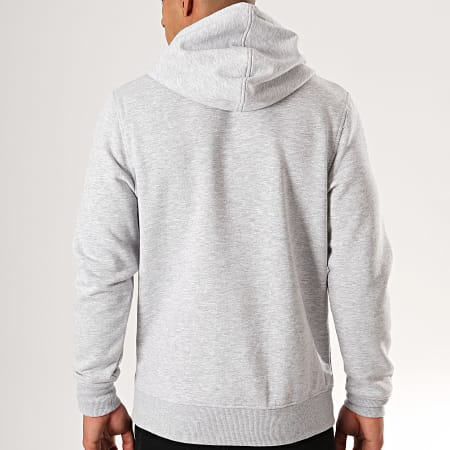 Jack And Jones - Sweat Capuche Booster Gris Chiné