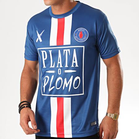 Lacrim Tee Shirt De Sport Plata o Plomo Paris Edition Bleu
