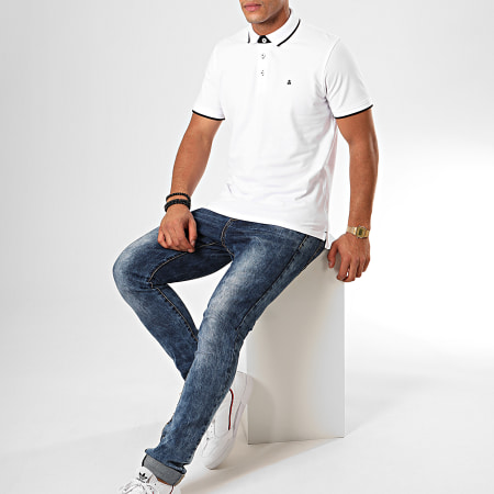 Jack And Jones - Polo Manches Courtes Paulos Blanc
