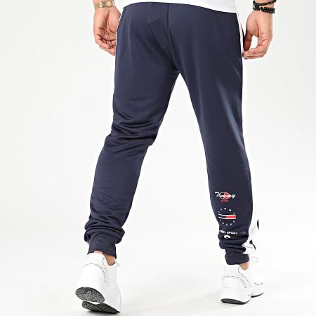 Tommy Sport - Pantalon Jogging A Bandes Graphics 0318 Bleu Marine