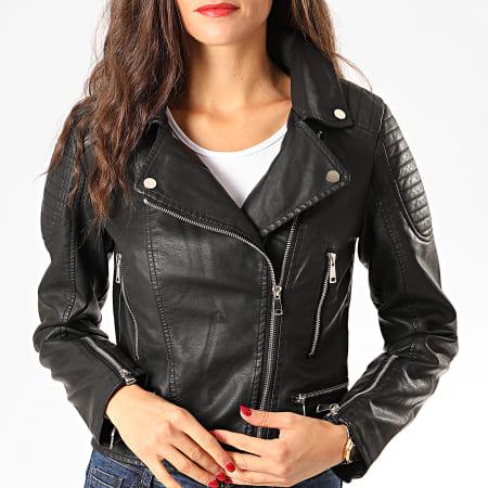 Girls Only - Veste Biker Femme V733 Noir