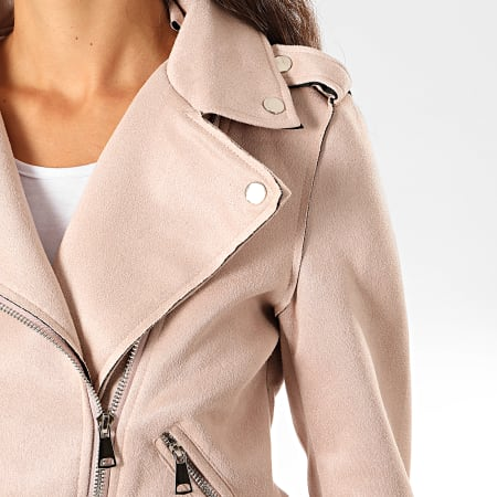 Girls Only - Veste Perfecto Femme FF109 Rose Clair