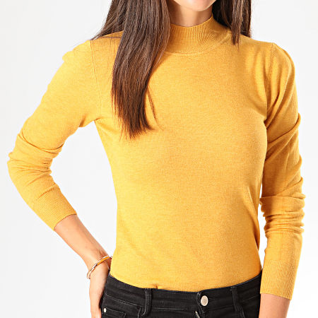 Girls Only - Pull Femme MG2126 Jaune Moutarde