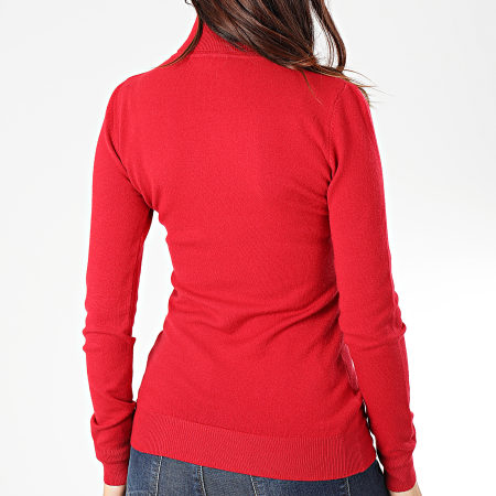 Girls Only - Pull Col Roulé Femme MG2125 Rouge