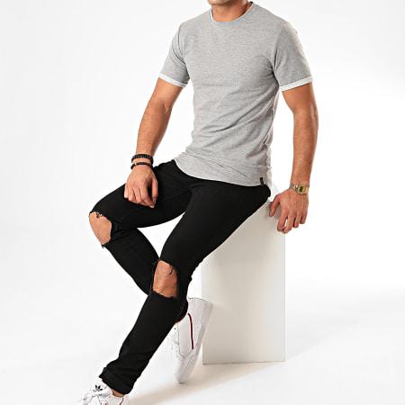 Uniplay - Tee Shirt Oversize UP-T311 Gris Chiné