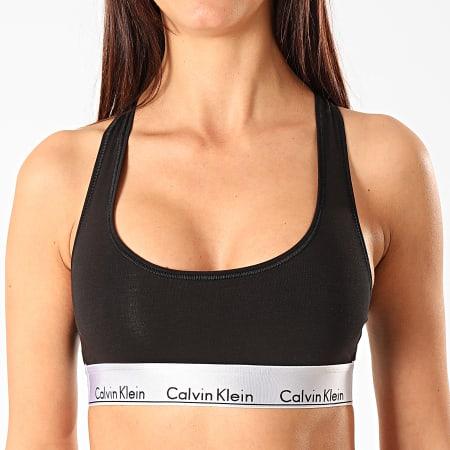 Calvin Klein - Brassière Femme Unlined Bralette 000QF5579E Noir Gris