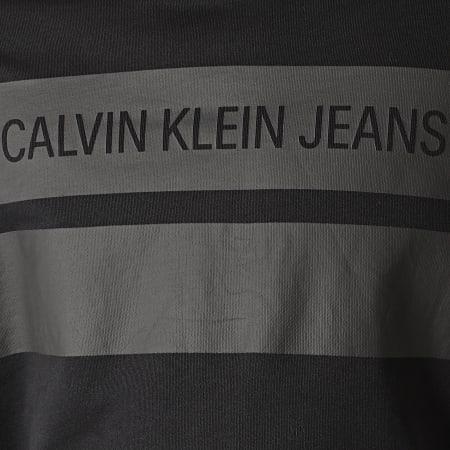 Calvin Klein - Sweat Capuche Institutional Blocking 4198 Noir