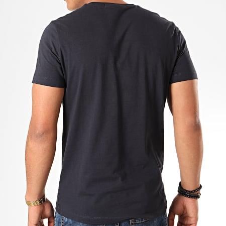 Calvin Klein - Tee Shirt Chest Institutional 7852 Bleu Marine