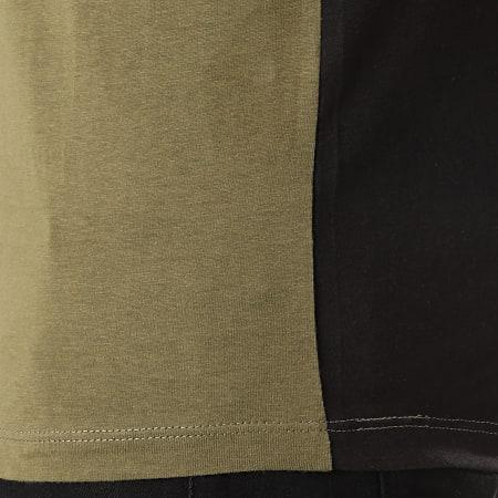 Jack And Jones - Tee Shirt Manches Longues Miller Noir Vert Kaki