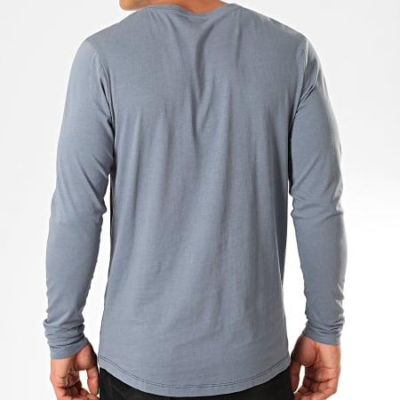 Jack And Jones - Tee Shirt Manches Longues Miller Bleu Clair Bleu Marine