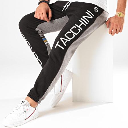 Sergio Tacchini - Pantalon Jogging Devon 38258 Noir Gris Chiné