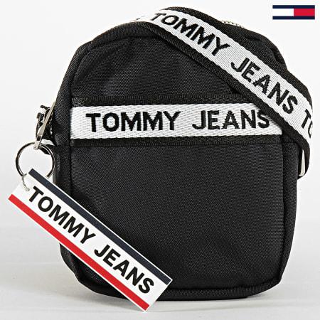 Tommy Hilfiger Jeans - Sacoche Logo Tape Reporter Nylon 6026 Noir