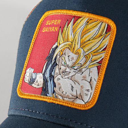 Dragon Ball Z - Casquette Trucker Super Saiyan Bleu Marine Bordeaux