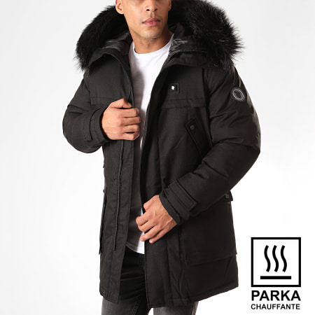 Comme Des Loups - Parka Fourrure Chauffante Antartic Noir