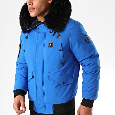 Comme Des Loups - Blouson Fourrure Chauffant Chicago Bleu Roi