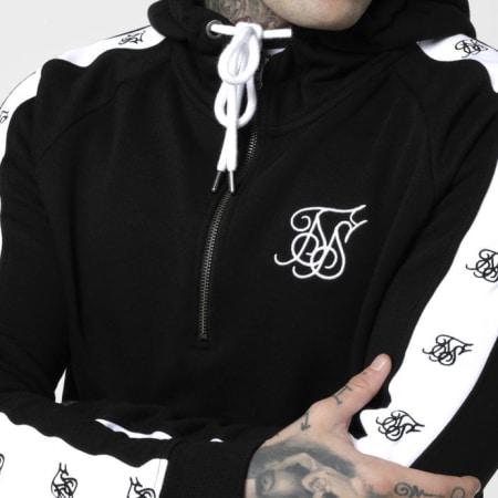 SikSilk - Sweat Capuche Avec Bandes Inset 14825 Noir