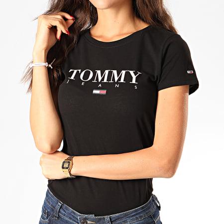 Tommy Hilfiger Jeans - Tee Shirt Femme Essential Slim Logo 7524 Noir